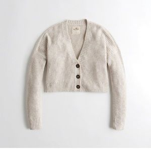 Hollister crop boyfriend cardigan- XS